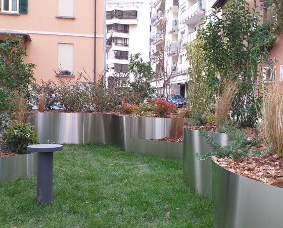 Area verde condominiale a Lugano